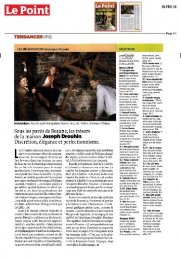 Press : Joseph Drouhin in French weekly Le Point