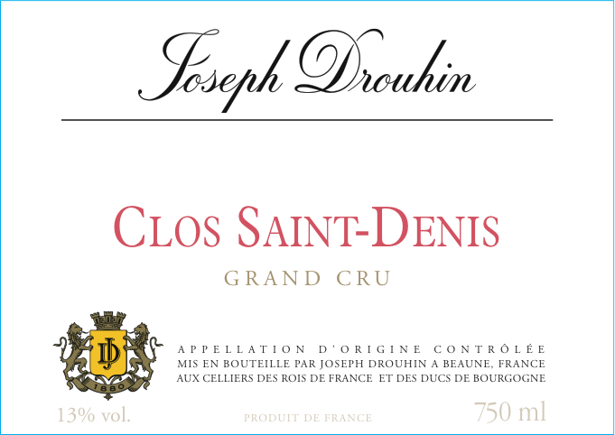 photo Joseph Drouhin Morey Saint Denis Grand Cru